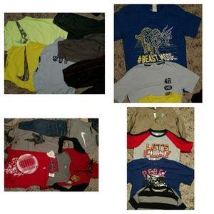 Boys xl shirts lot size 14 16 jeans athletic wear